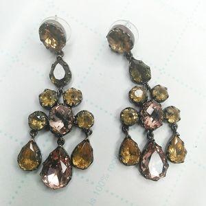 Stella & Dot Gemstone Chandelier Earrings